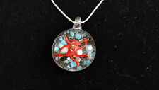 "17"" 925 STERLING SILVER OCTOPUS TURTLE MURANO GLASS LAMPWORK PENDANT NECKLACE"