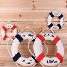 Hanging Life Buoy Lifeguard Swimming Pool Foam Safety Buoy Decor Boat Red/Blue