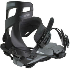 BRAND NEW TECHNINE BLACKOUT NINER SNOWBOARD BINDINGS BLACK/BLACK MEDIUM LARGE