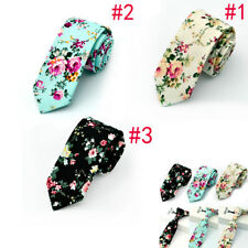 Mens Floral Paisley Cotton Skinny 6cm Necktie Party High Quality Tie 3 Stype
