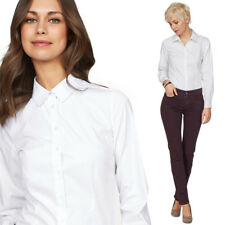 New Long Sleeved Womens Work Office Shirts Ladies Tops Blouses Formal Shirt