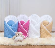 Luxury Soft Baby Swaddle Wrap / Infant Swaddling Newborn Blanket / Quilt Plain