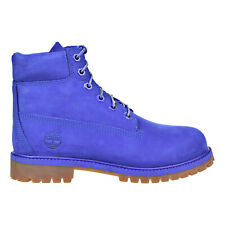 Timberland 6 Inch Premium Waterproof Big Kids Blue Boots tb0a1p6h
