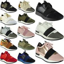 Womens Running Trainers Ladies Fitness Gym Light Sports Comfy Lace Up Shoes Size