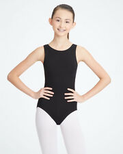 Capezio CC201C 9906C girls tank leotard high neck burgundy cotton small 4-5