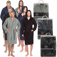 Mens Deluxe Luxury Cotton Soft Terry Cloth Bath Spa Robe Towelling Dressing Gown