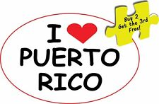PR Puerto Rico/Rican With Flags Oval Decal Sticker