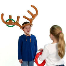 New Inflatable Reindeer Hat Ring Toss Xmas Holiday Party Toys Moose Family Games