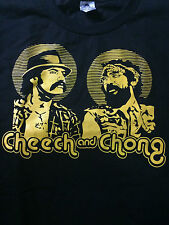 BRAND NEW CHEECH AND CHONG BUDS MENS ADULT BLACK T SHIRT - FREE SHIPPING