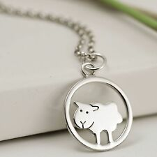 Handmade 925 Sterling Silver Year of the Sheep Necklace - Zodiac Jewellery