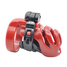 Male Resin Chastity Device Cage Fetish Bondage Lock with 4 Locking Rings Set