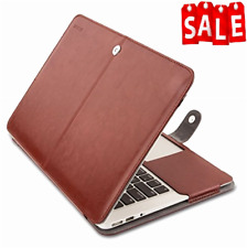 Case Stand Cover PU Leather Book Folio for MacBook Air 13 Inch Magnetic Design