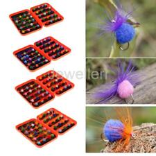 40Pcs Fly Fishing Lures Dry Flies Set Floating Flies Hooks for Bass Carp Trout
