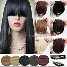 US Fast Post Long Bangs Bang Clip in Fringe Hair Extensions Front Neat Extension