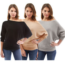 Casual Loose Blouse Kintted Tops T-Shirt Fashion Women's Long Batwing Sleeve