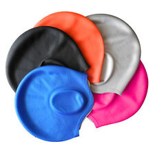 Silcone Long Hair Bathing Cap Ladies Swimming Hat/Cap/Turban with Ear Cup