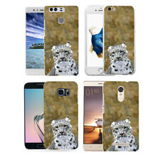 Snow Leopard Print Case Cover for iPhone 8 Samsung Galaxy Huawei Xiaomi Frugal