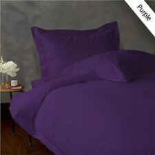1000 TC EGYPTIAN COTTON FITTED/FLAT/DUVET/BED-SKIRT US-SIZES PURPLE SOLID