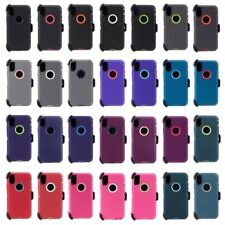 For Apple iPhone X 10 Case Cover {Belt Clip fits Otterbox Defender}