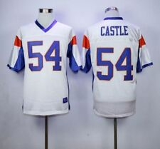 #54 Thad Castle football jersey Blue Mountain State Movie TV White Sewn