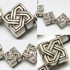 Celtic Bali Sterling Silver Plated Detailed Bead 7mm NON TARNISH Wholesale Lot