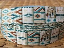 "3 or 5 yards 1"" WEAVING  themed grosgrain ribbon- FLAT RATE SHIPPING"