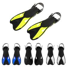 Adult Unisex Scuba Diving Fins Open Heel Snorkel Swim Pool Training Flippers