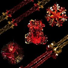 Red & Gold Christmas Foil Ceiling Decoration - Bell, Ball, Snowflakes, Garlands