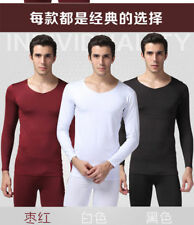 High Qaulity Mens 2pc Thermal Underwear Set Long Johns Waffle Knit Top Bottom