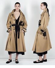 Zara STUDIO Oversize Trench Coat With Contrasting Belt Tie Cuffs M One Size BNWT