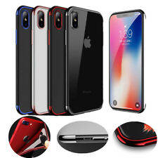 Ultra Thin For iPhone X Shockproof Case Plating Clear Soft TPU Hybrid Slim Cover