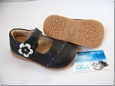 Girls Black Leather Shoes for Toddler Kids Children for age 1 - 6 years approx