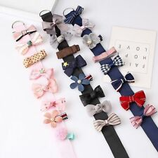 8PCS Lace Flower Hair Clips Children Girls Hairpin Barrettes Set Ribbon Bow Hot