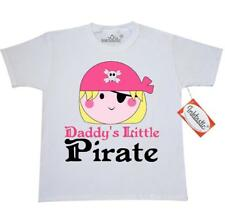 Inktastic Pirate Girl Daddys Little Youth T-Shirt Cute Pink Skull And Crossbones