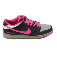 Nike Dunk Low Premium SB QS Black / Pink / Foil-White Skateboarding Shoes New