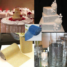 10 Yards Diamond Mesh Wrap Roll Rhinestone Wedding Ribbon Decor Party Supplies