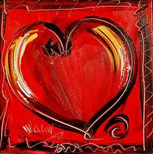 RED  HEART MODERN CONTEMPORARY CANADIAN GALLERY LARGE ORIGINAL OIL