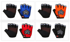 Durable Cycling Gloves Half Finger Sports Bicycle Fingerless Padded + Bike Light