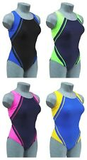 CHEX Fitness Belize Ladies Girls Swimming Costume Swim Suit Racer Strapped Back