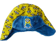Minions Hat Boys Girls Ski Trapper Despicable Me Ages 1 To 6 Years