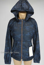 NEW LULULEMON Spring Fling Puffy Windbreaker 4 6 8 10 12 Lotus Camo Blue NWT