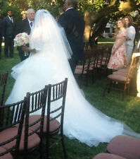 Three Tier Cathedral Veil w/ detachable Two-Tier Fingertip Veil w/ Blusher
