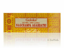 Goloka Nag Champa Incense Sticks Agarbathi: 100 Gram, 16 Gram, or 8 Stick Sample