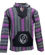 Earth Ragz Grateful Dead Adult Men's Striped Baja Steal Your Face, Fuchsia