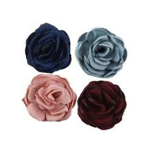 5pcs Cloth Fabric Rose Flower DIY Headdress Hair Clip Hairpin Coat Brooch
