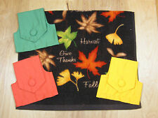 Add A Top ~Fall Leaves Hanging Handmade Hand Towel Fabric Button Top