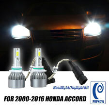 For Honda Accord 1Pair 72W 6000K white Car LED Headlight Foglight Kit Bulbs COB