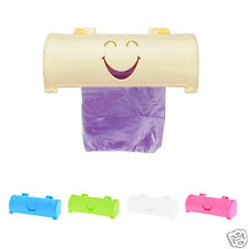 Practical Cartoon Smile Face Hanging Mounted Pure Color Garbage Bags Storage
