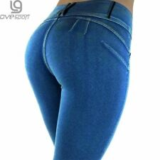 Fitness Pants Women Sexy Push Up Jeans Leggings Hip Jeggings Low Waist Trousers
