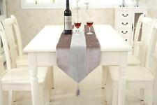Champagne Table Runner Cushion Chenille Placemat for Wedding Venue Dinner Room